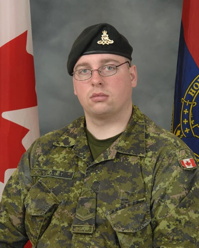 Bombardier Jeremie Ouellet, 22, was found dead in Kandahar Airfield on Tuesday, Mar. 11, 2008. (Department of National Defence)