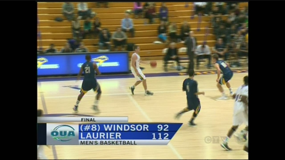 Wilfrid Laurier Golden Hawks host Windsor Lancers in OUA basketball action on Wednesday, January 9, 2013.