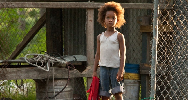 This film image released by Fox Searchlight Pictures shows Quvenzhane Wallis portraying Hushpuppy in a scene from,