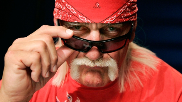Hulk Hogan poses for a portrait Wednesday, Oct. 28, 2009 in New York. (AP / Jeff Christensen)