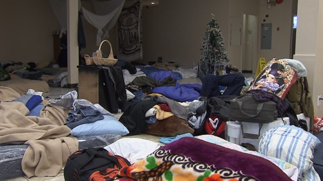 Vancouver homeless shelters are struggling with low donations and have had to turn away people in need. Dec. 15, 2010. (CTV)