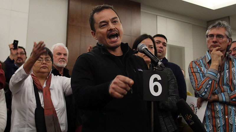 Assembly of First Nations National Chief Shawn Atleo addresses a news conference in Ottawa on Thursday, Jan. 10, 2013. (Fred Chartrand / THE CANADIAN PRESS)