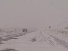 Snowy roads in province