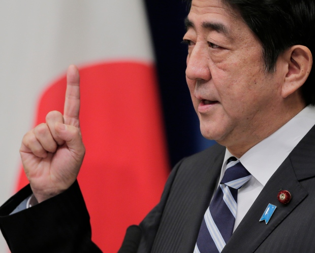 Japanese PM Shinzo Abe on Jan. 11, 2013