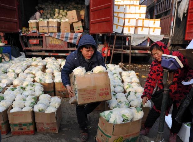 Fuyang in Anhui, China on Jan. 11, 2013.