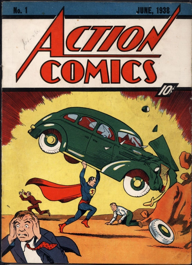 Superman's first comic book appearance.