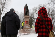 Macdonald statue vandalized in Kingston
