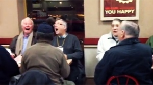 Video image of the informal concert at an Oakville Tim Hortons on Jan. 7, 2013.