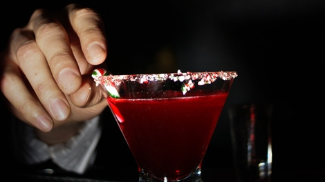 The Candy Cane Swirl at Vancouver's Charles Bar combines all the best flavours of the season with a hefty dose of spirits. (Charles Bar)
