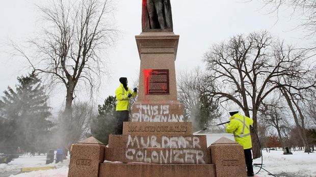 Statue vandalized