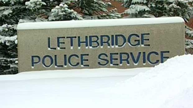 Lethbridge police sign