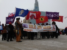 Idle No More protest in Winnipeg