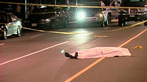Paul Boyd lies dead after he was shot to death by police. Aug. 13, 2007. (CTV)