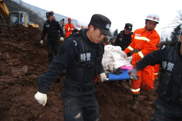 China's landslide