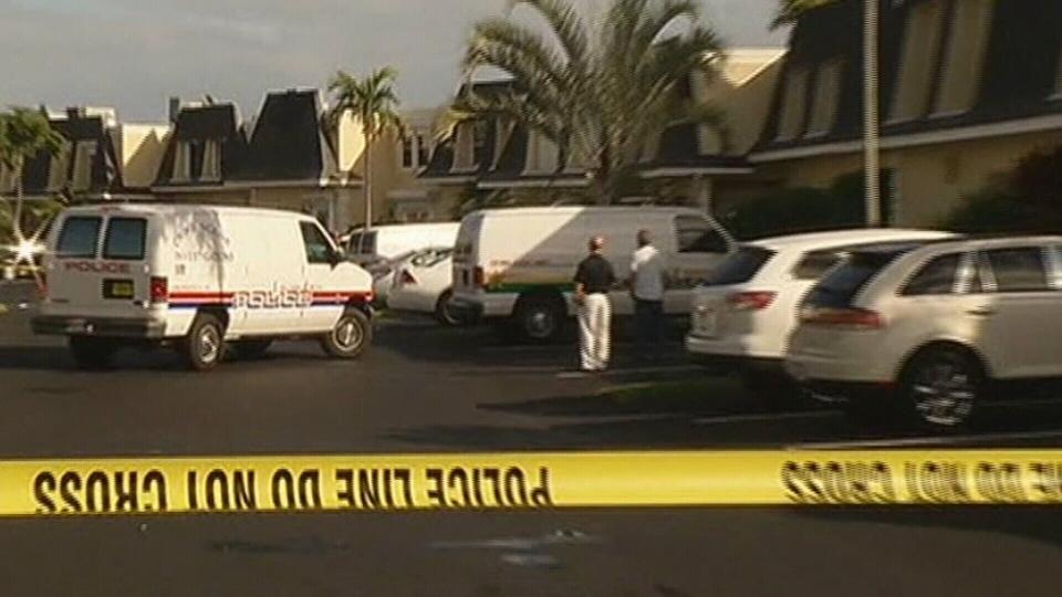 Crime scene in Hallandale Beach, Florida on Jan. 11, 2013