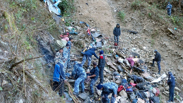 Bus crash in Nepal kills 30