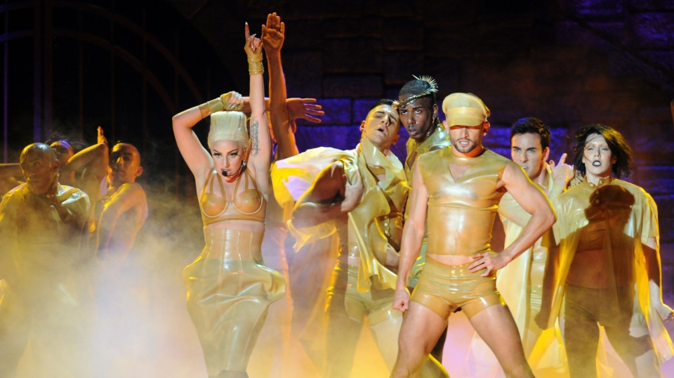 Lady Gaga dances at a performance in Vancouver on Friday, January 11, 2013. (The Picture Group)