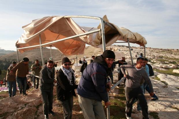 West Bank protest evacuation
