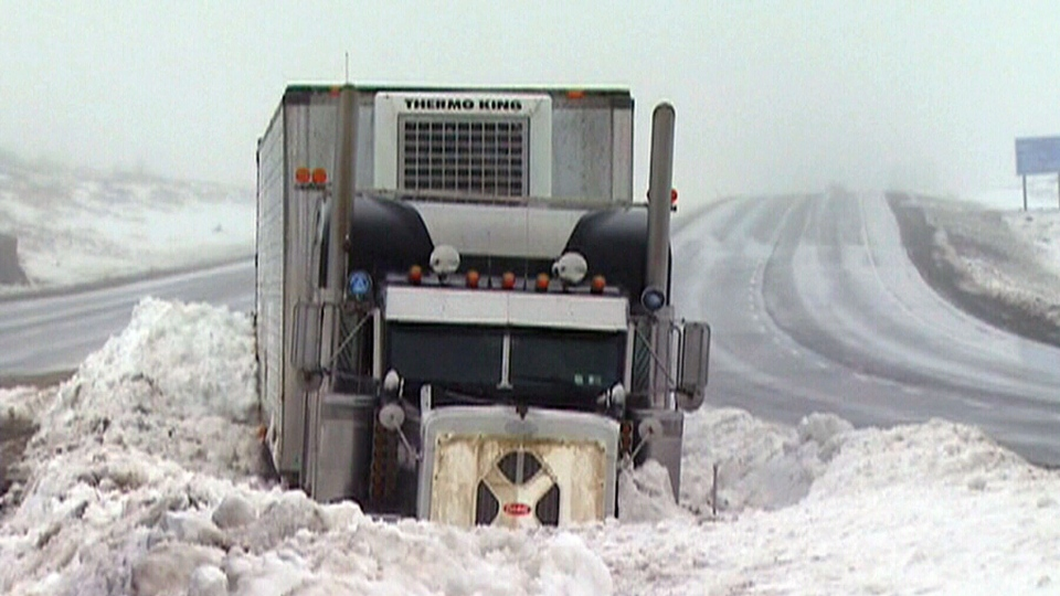 A winter blizzard made for dangerous driving conditions in Manitoba on Friday, Jan. 11, 2013.