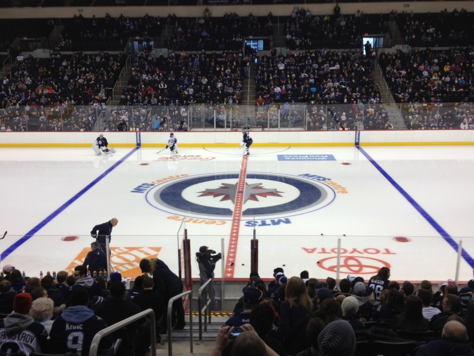 Thousands of fans packed the MTS Centre Sunday to watch the Winnipeg Jets first practice of the season.
