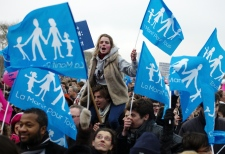 Mass protest in Paris against gay marriage