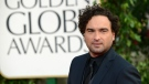 Actor Johnny Galecki arrives at the 70th Annual Golden Globe Awards at the Beverly Hilton Hotel in Beverly Hills, Calif. on Sunday, Jan. 13, 2013.