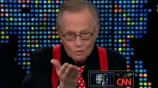 Larry King appears during his final show on CNN, Thursday, Dec. 16, 2010.