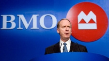 Bank of Montreal CEO Bill Downe speaks in Toronto on March 1, 2007. (Adrian Wyld / THE CANADIAN PRESS)