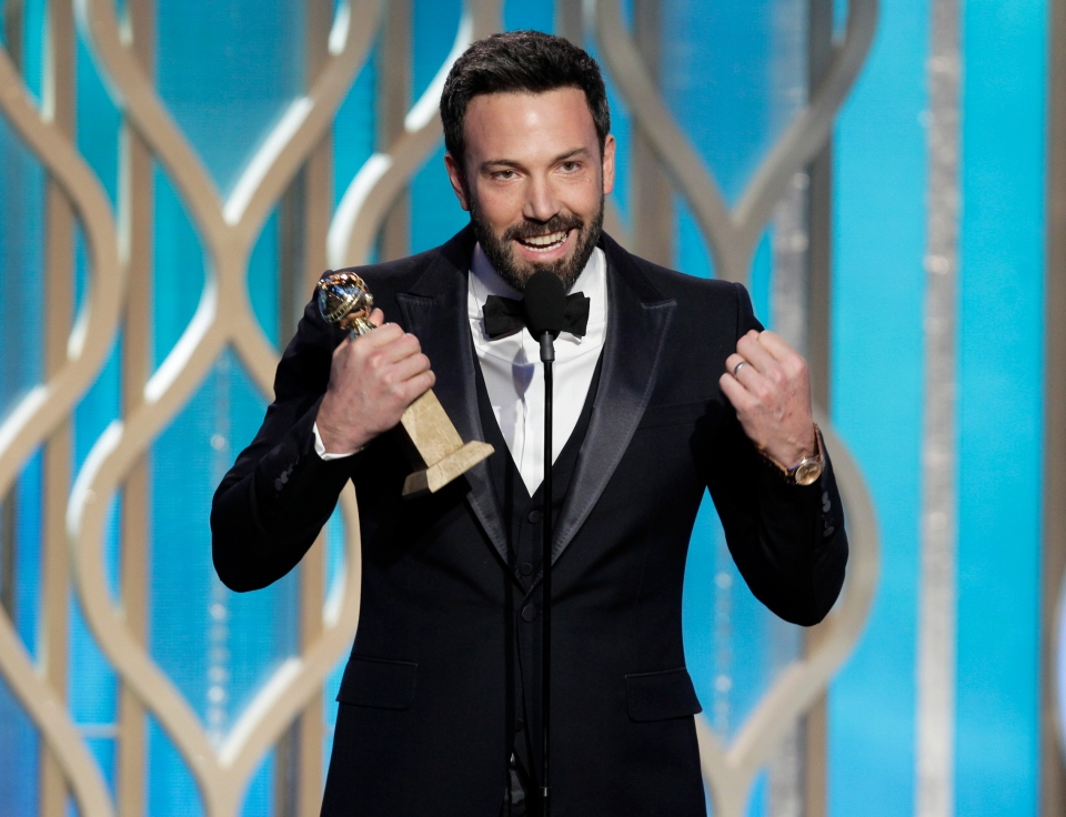 Ben Affleck with his award for best director for 'Argo' during the 70th Annual Golden Globe Awards at the Beverly Hilton Hotel on Jan. 13, 2013, in Beverly Hills, Calif.