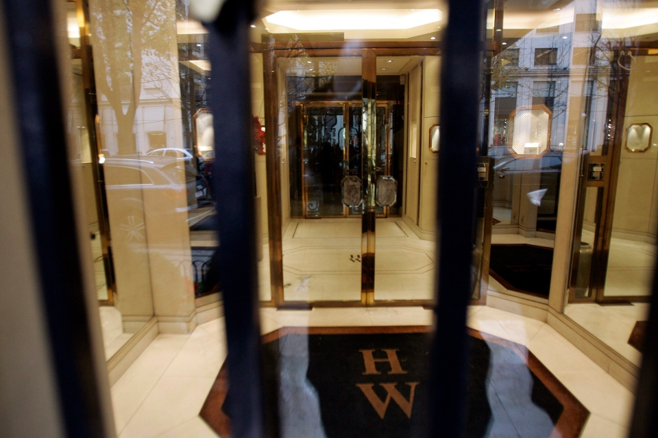 View of the entrance of the Harry Winston jewelry store near the Champs-Elysees in this Paris, Friday, Dec. 5, 2008 file photo. (AP Photo / Francois Mori, file)