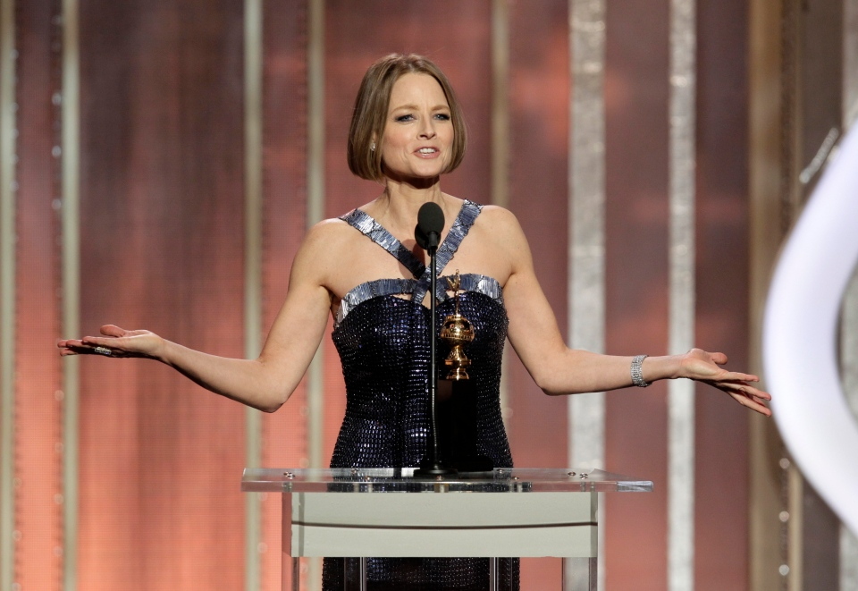 Jodie Foster, recipient of the Cecil B. Demille Award, during the 70th Annual Golden Globe Awards at the Beverly Hilton Hotel on Jan. 13, 2013, in Beverly Hills, Calif.