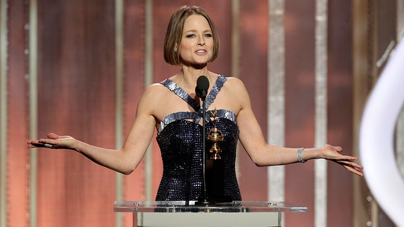 Jodie Foster, recipient of the Cecil B. Demille Award, during the 70th Annual Golden Globe Awards at the Beverly Hilton Hotel in Beverly Hills, Calif. on Jan. 13, 2013.