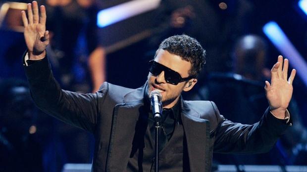 Justin Timberlake performs on stage
