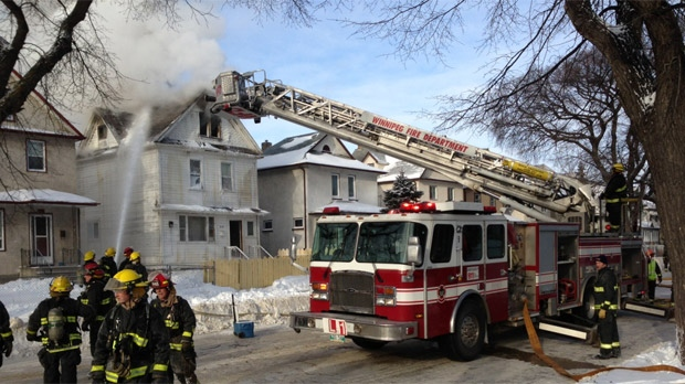 Maryland fire in Winnipeg