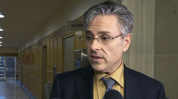 University spokesman Charles Crosby speaks to the media in Halifax, N.S. on Monday, Jan. 14, 2012.