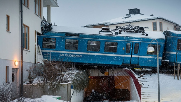 stolen train crash stockholm