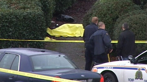 A homeless man was found dead in Port Coquitlam on Sunday, Dec. 19, 2010. (CTV)