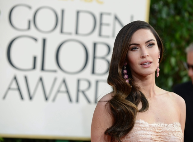 Actress Megan Fox arrives at the 70th Annual Golden Globe Awards at the Beverly Hilton Hotel on Sunday Jan. 13, 2013, in Beverly Hills, Calif. (Photo by Jordan Strauss/Invision/AP)