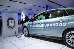 Electric car on display at the North American International Auto Show in Detroit, Jan.15, 2013. (Melanie Borrelli / CTV Windsor)