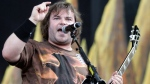 Jack Black of the band Tenacious D performs at the Bonnaroo Music and Arts Festival in Manchester, Tenn. Friday, June 11, 2010. (AP / Jeff Christensen)