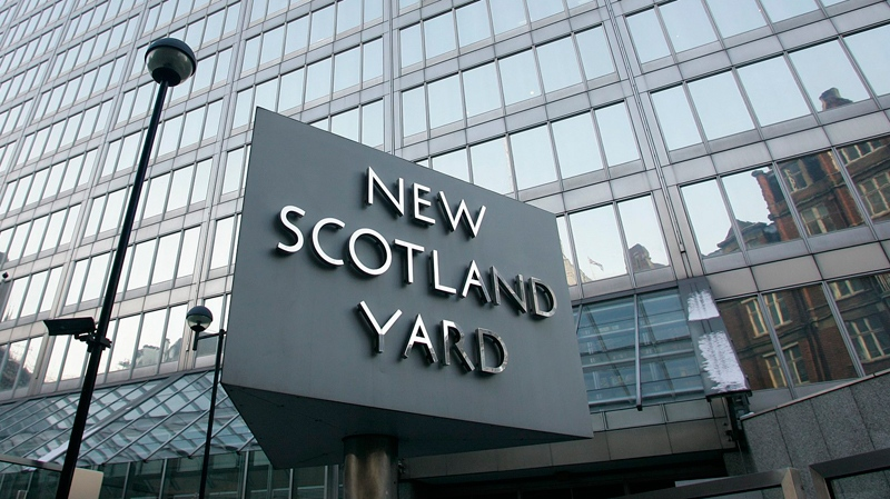 A view of New Scotland Yard, the headquarters building of the Metropolitan Police, in London, Monday, Dec. 20, 2010. (AP / Akira Suemori)