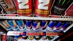 Energy drinks are shown in a store in Montreal. (The Canadian Press/Paul Chiasson)