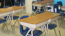 Empty classroom file photo