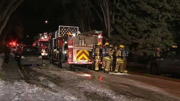 Fire crews at Glenbrook home