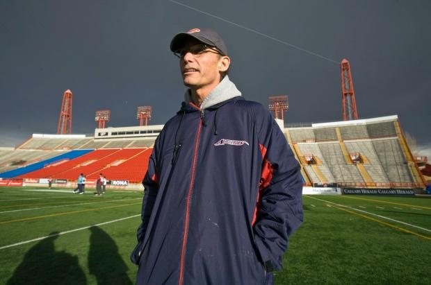 Marc Trestman in Calgary on Nov. 25, 2009.