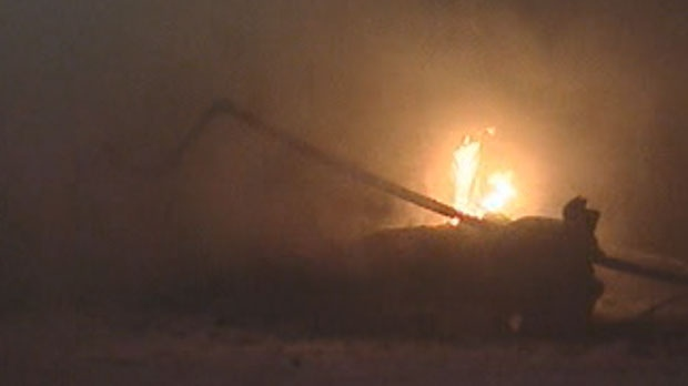 Remnants of an explosion could be seen in a West St. Paul neighbourhood Tuesday evening.