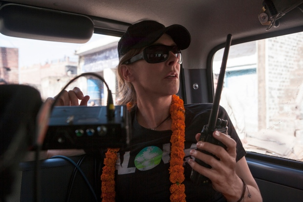Kathryn Bigelow on the set of 'Zero Dark Thirty""