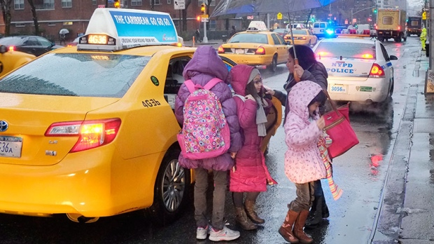 School bus strike NYC