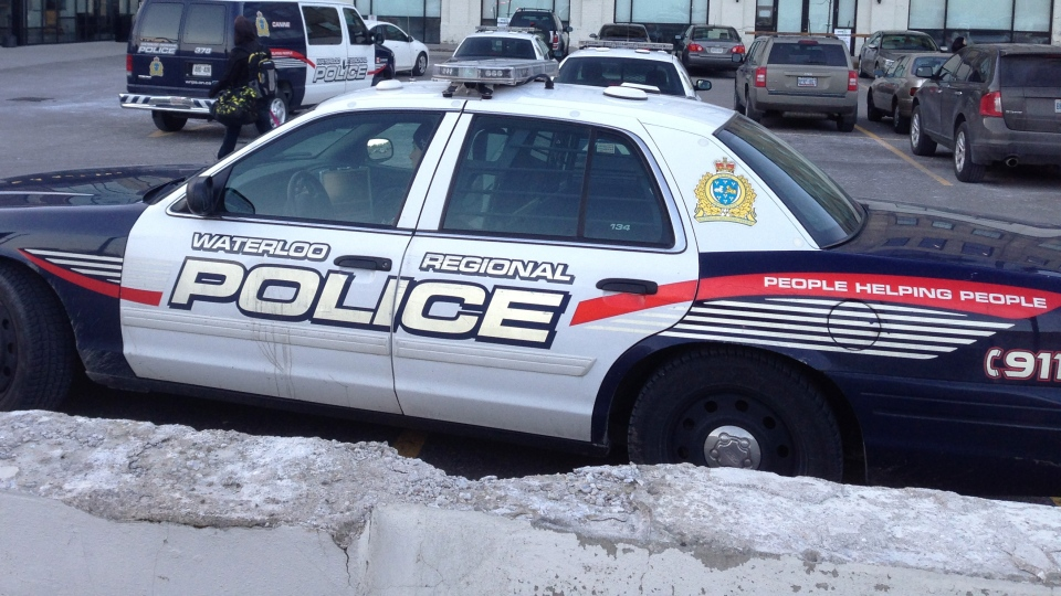 A Waterloo Regional Police cruiser is seen in Kitchener, Ont., on Tuesday, Jan. 15, 2013. (Brian Dunseith / CTV Kitchener)