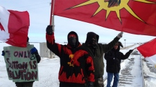 Idle No More protest near Portage la Prairie, Man.